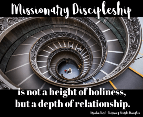 missionary discipleship depth of relationship small